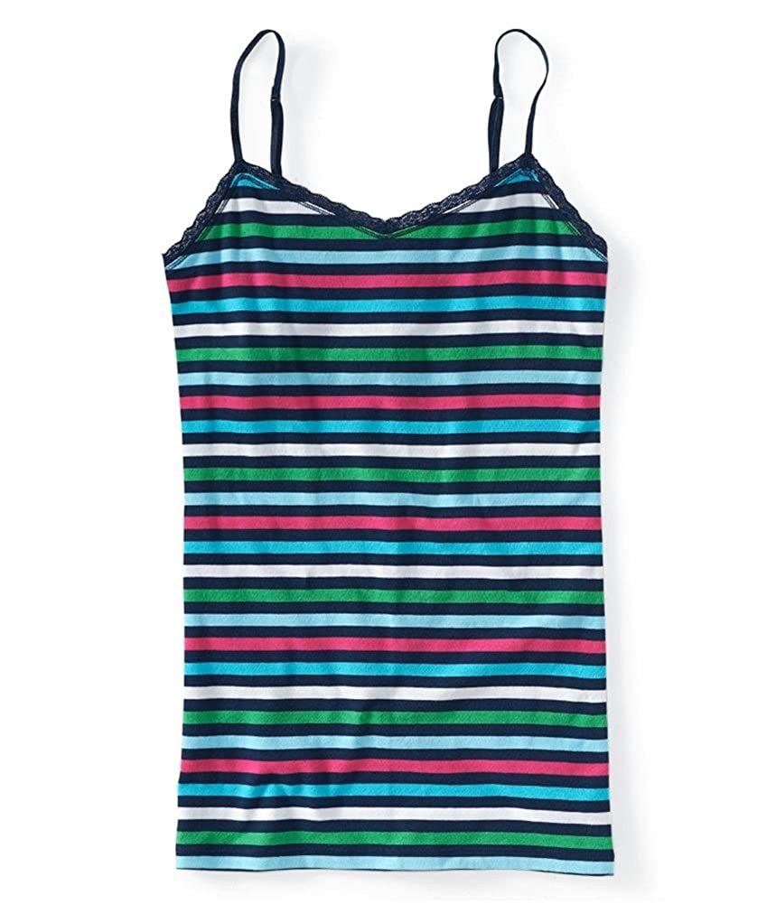 AEROPOSTALE Womens Stripe Lace Stretch Cami