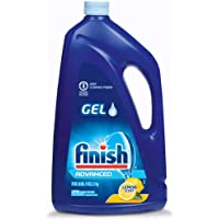 Finish Dishwasher Detergent Gel Liquid, Lemon Scent, 75oz