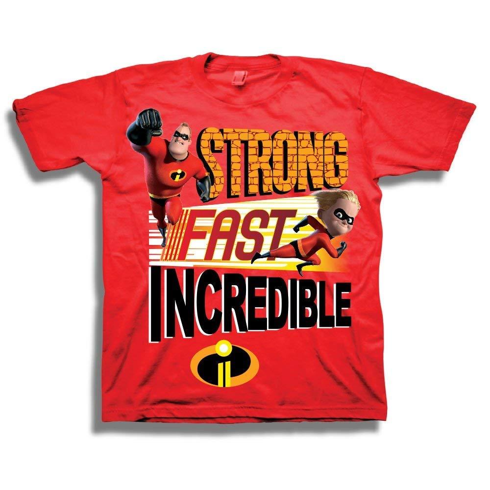 c4dd2e1a564f Amazon.com: Disney Pixar The Incredibles Shirt - Toddler Boys 'Strong,  Fast, Incredible' Incredibles T-Shirt: Clothing