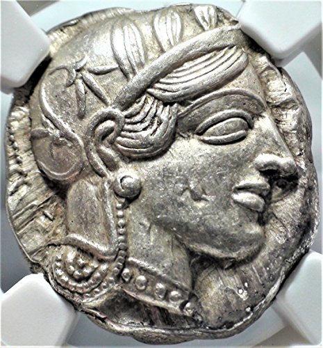 Ancient Greek Tetradrachm Coin Silver - GR 440-404 BC Ancient Greece Antique Greek Silver Coin Tetradrachm Choice About Uncirculated NGC