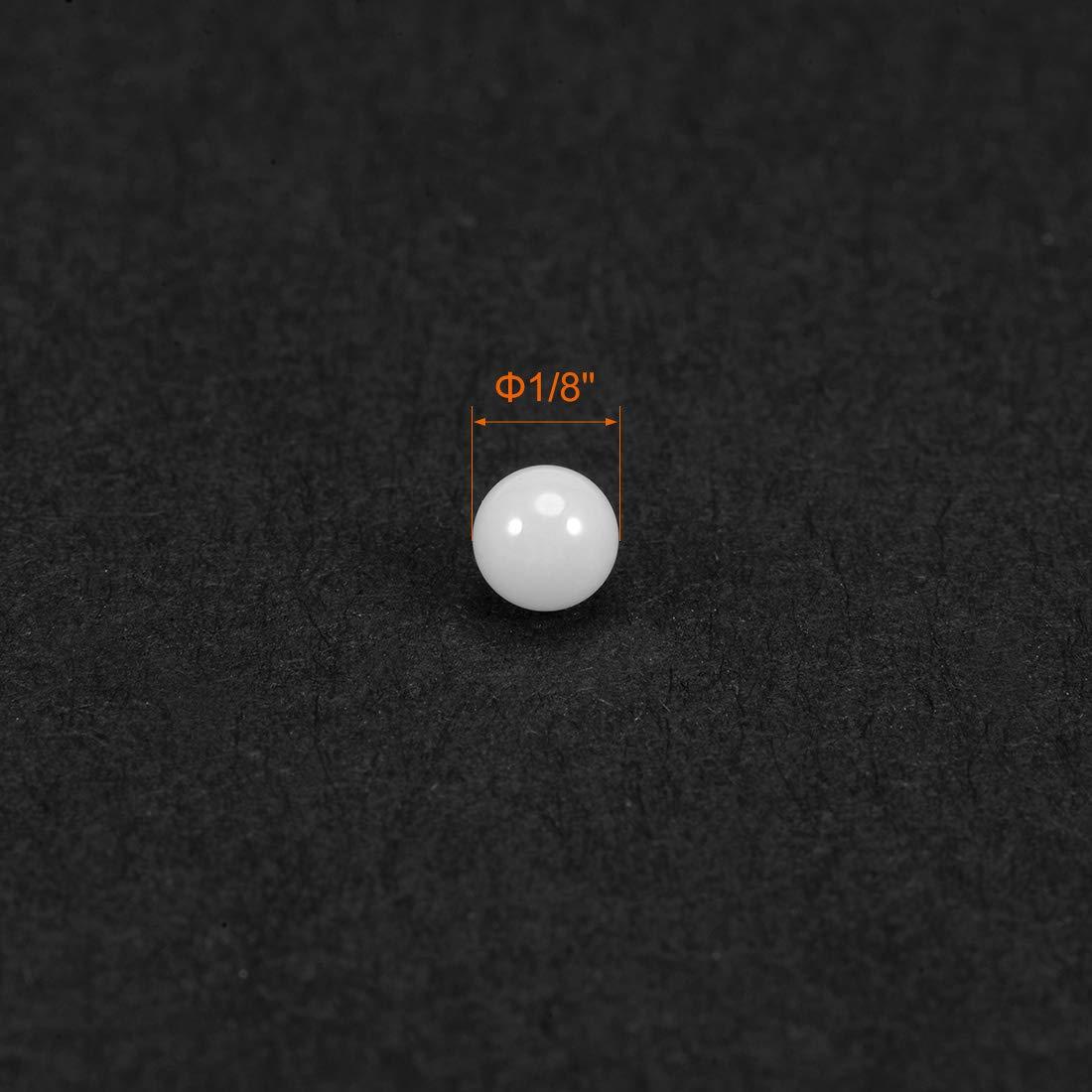 Sourcingmap 5 Qty Bolas de rodamiento de cer/ámica de 1//4 pulgadas bola de /óxido de circonio ZRO2 G10 precisi/ón 1//8