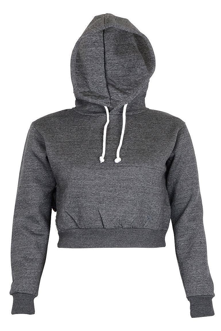 Noroze Womens Plain Crop Top Hoodies at Amazon Women's Clothing store: