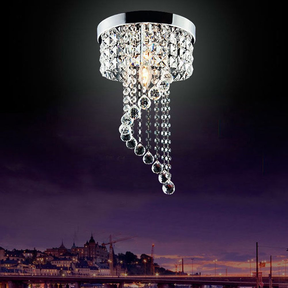 Jorunhe Modern LED Bulb Ceiling Light Pendant Fixture Lighting Crystal Chandelier