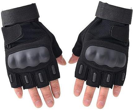 Men/'s Military Tactical Fingerless Motorcycle Hard Knuckle Half Finger Gloves UK