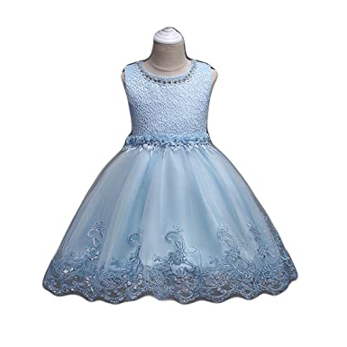 89cf8f0992 Flower Girl Pageant Dresses for Wedding Coral Blue Lace Tulle Tutu Ball Gown  Dress One Year