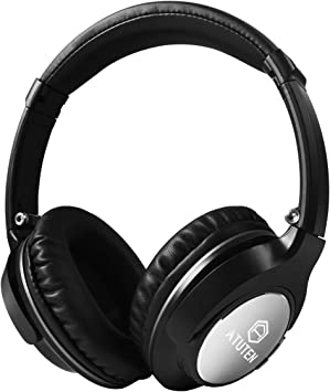 Auriculares Inalámbricos sobre El Oído, Atuten Auriculares Bluetooth con Micrófono, Retractable, Supersoft Protein Earpads, para PC TV Tablets (JH-803): Amazon.es: Electrónica