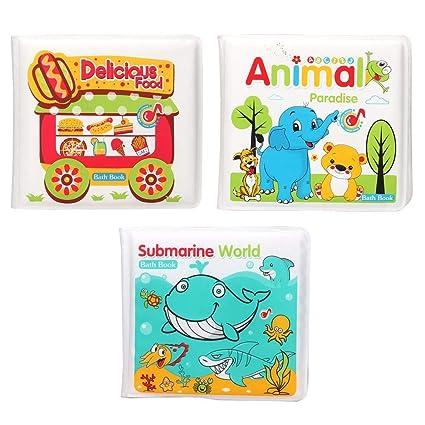 Bain Hochet Livres Bebe Eva Food Animal Impermeable Enfants