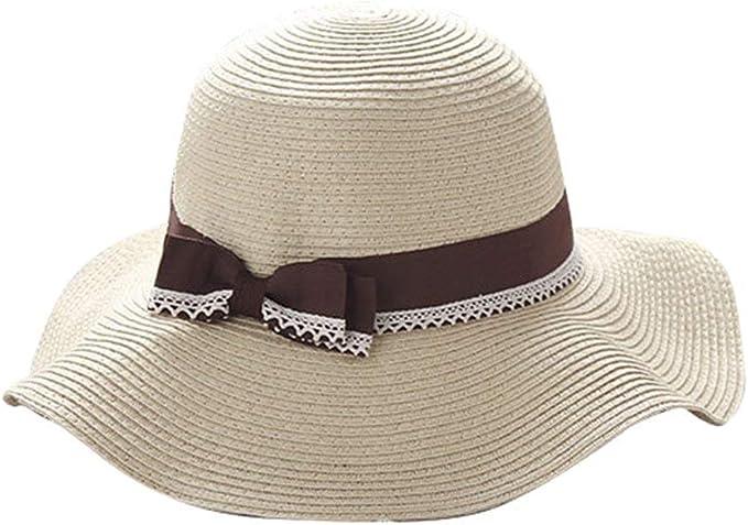 Gorros Beige Sombrero De Playa para Mujer Sombrero para Playa ...