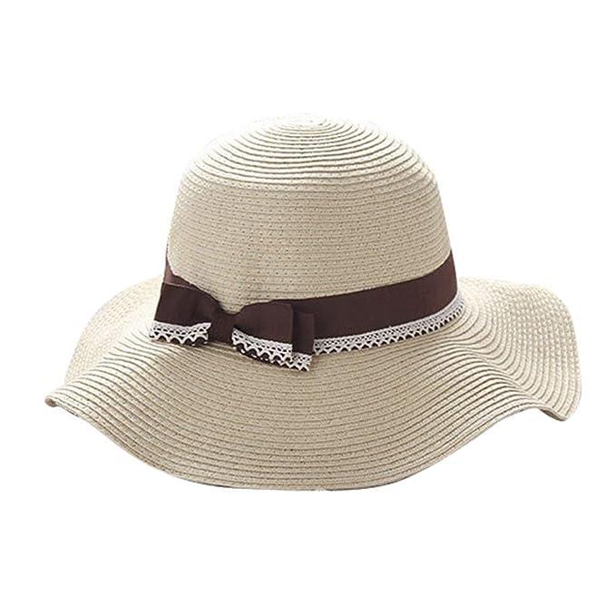 Gorros Beige Sombrero De Playa Mujer Playa para para Modernas Casual Mujer Sombrero para El Sol