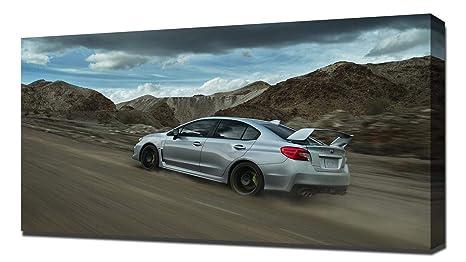 Amazon Com Lilarama Usa 2018 Subaru Wrx Sti V7 Canvas Art Print