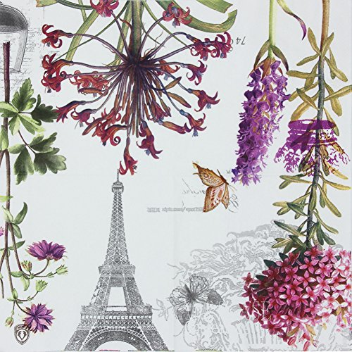 Alink Paper Napkins Paris Eiffel Design Luncheon Party Napkins Serviettes, 20 Count, 13