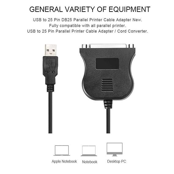 Sylvialuca USB a Impresora DB25 Adaptador de Cable de Puerto ...
