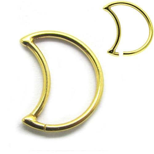 """NewkeepsR 18ga 8mm (5/16"""") Recocido Crescent Daith Pendientes Piercing sin Soldadura"""