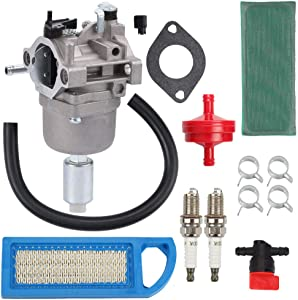 Venseri 591731 Carburetor with Air Fuel Filter Tune-up Kit for Briggs & Stratton 791858 791888 792358 793224 697190 697141 698445