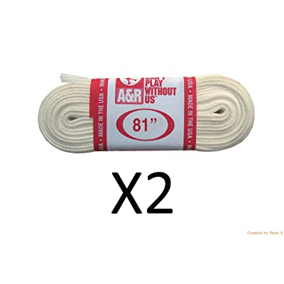 "A&R New 2 Pair, 4 Laces FIGURE SKATE Ice Skating Laces Made in USA WHITE 63""-108"" : Sports & Outdoors"