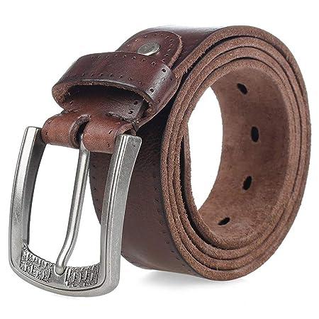 XWCPDM Cinturón para Hombre, Cinturón De Cuero para Hombres ...