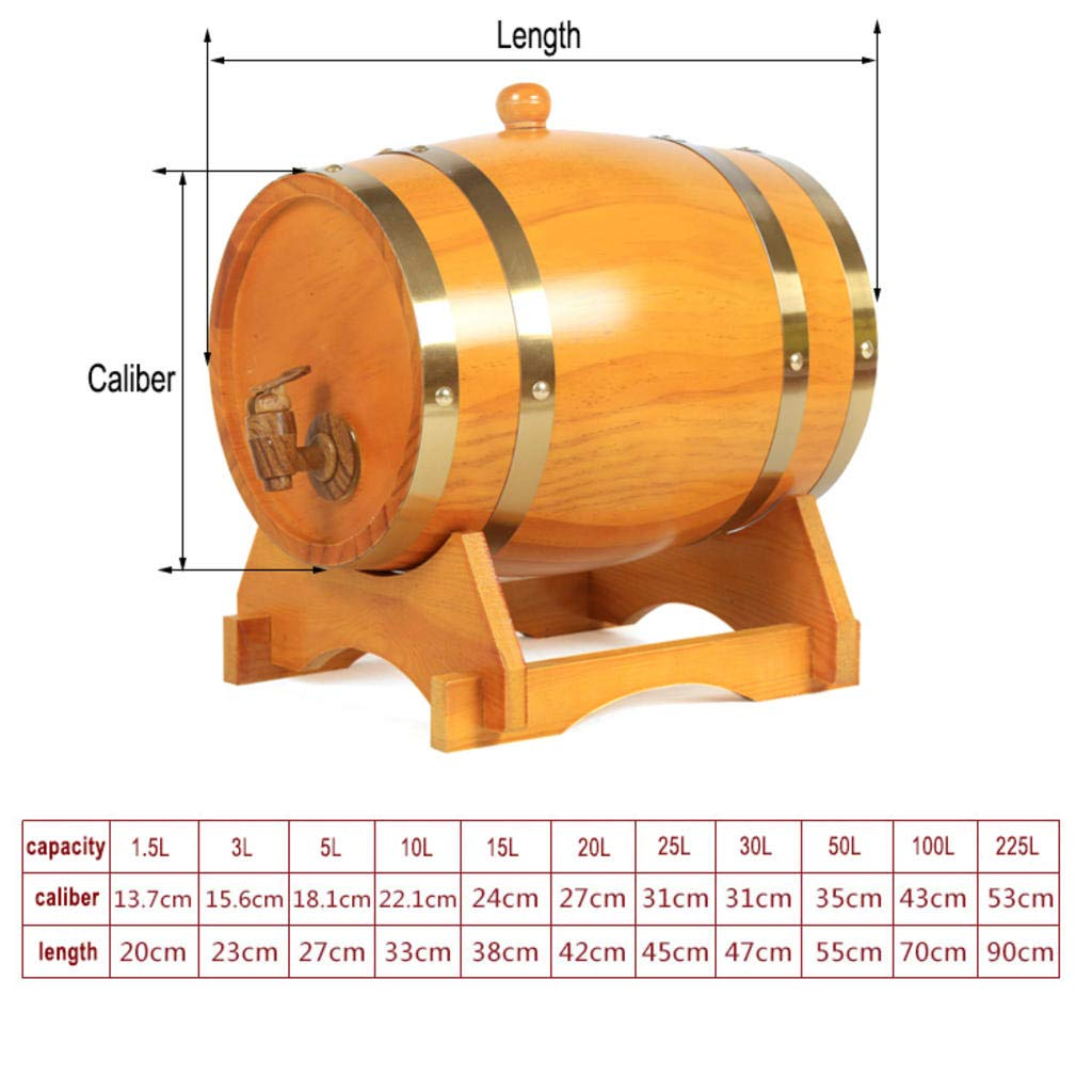 Woode Barril de Vino Madera Dispensador de Roble Forro de ...