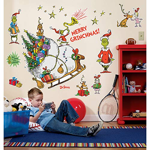 Grinch Wall Decals (Grinch Sled)