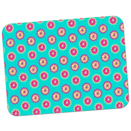 Extra Thick Rubber Mouse Pad / Mat - 9.6 x 7.5 x 0.2 inches - Light Burst Polka Dot Pattern