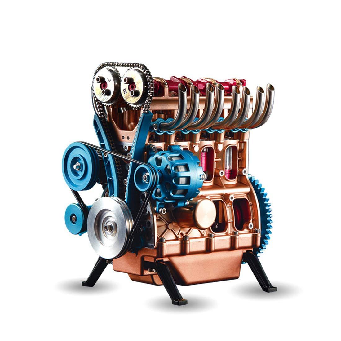 PeleusTech® DIY Stirling Engine All-Metal Unassembled Stirling Engine Kit Desk Stirling Engine for Teaching, Gift - Four Cylinder