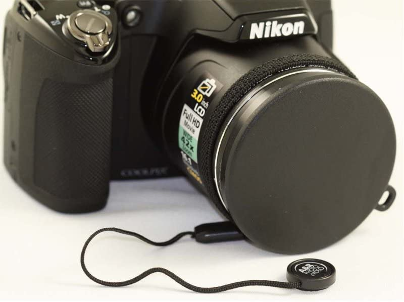 Cap Holder Push up Front Lens Cap Cover for Nikon Coolpix P510 Digital Camera
