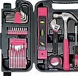 Apollo Tools DT9408P Household Tool Kit (53 Piece), Pink