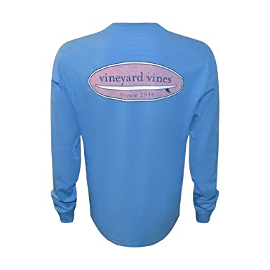 f8b089edeff Vineyard Vines Men's Long-Sleeve Graphic Pocket T-Shirt (Hull Blue Surf Logo