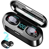 BOBITOS Audífonos Bluetooth Inalámbricos, Control Táctil y LED Pantalla, Bluetooth 5.0 Auriculares Deportivos IPX7 Impermeabl