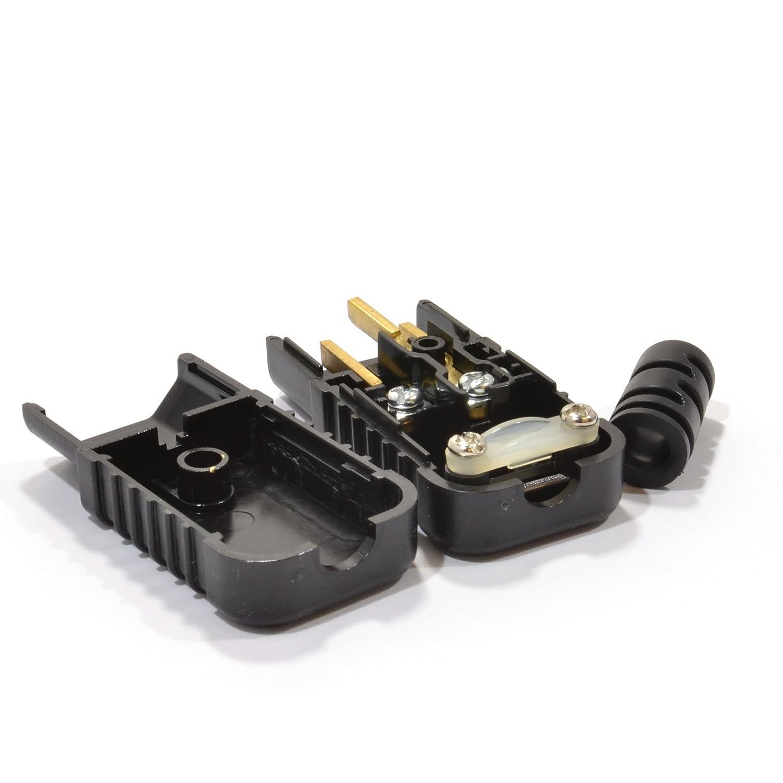 Heavy Duty Rewireable IEC C14 Tetera Cable Masculino En L/ínea Clavija 10a 230V