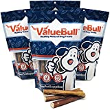 ValueBull Bully Stick Dog Chews, 6 Inch Jumbo, Low-Odor, 100 Count