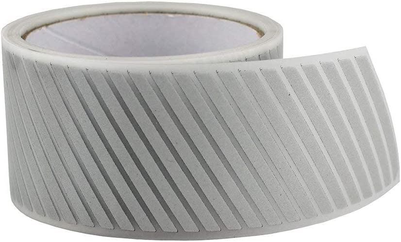100m IRON ON Reflective Tape Light Weight Silver Reflective Fabric 2 x 328 ft