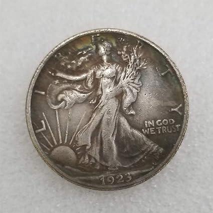 DDTing 1923 Moneda de Medio dólar de la Libertad Antigua – Moneda Conmemorativa Americana – Monedas Antiguas de los Estados Unidos – Original Pre Morgan sin circulación Buen Servicio: Amazon.es: Hogar