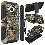 Core Prime Case, Galaxy Core Prime Holster Case, HengTech (TM) Shockproof Hybrid Armor Defender Case Shell with Kickstand & Belt Swivel Clip for Samsung Galaxy Core Prime / Prevail LTE (Camouflage)