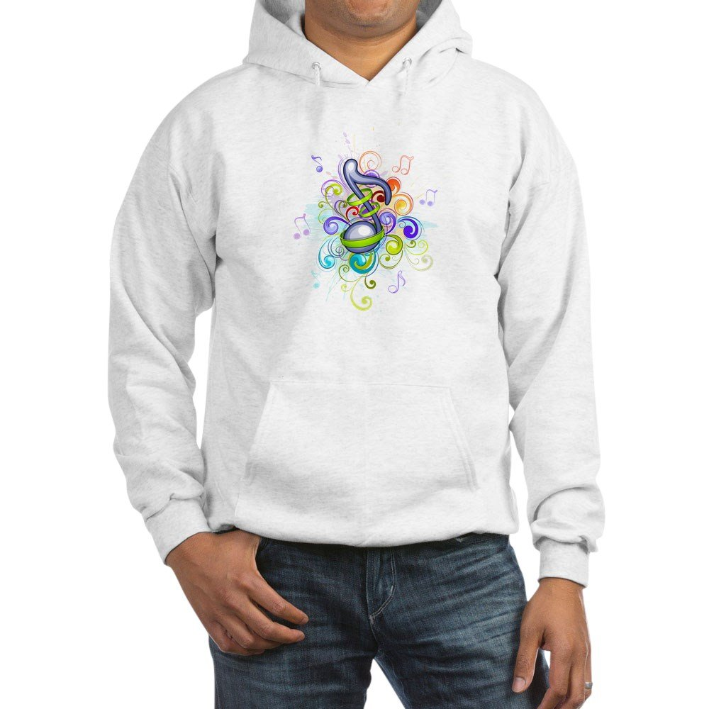 2X Truly Teague Hooded Sweatshirt Music Note colorful Burst White