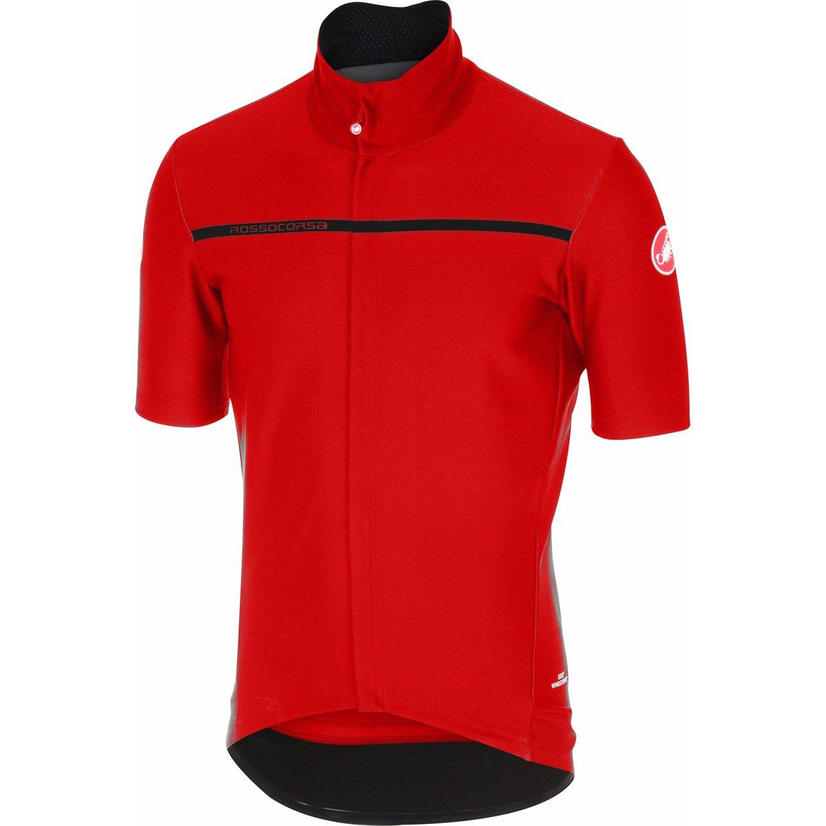 CastelliメンズGabba 3半袖サイクリングjacketb17084 B06VVRTGWK X-Large|レッド レッド X-Large