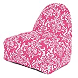 Majestic Home Goods French Quarter Kick-It Chair, Hot Pink