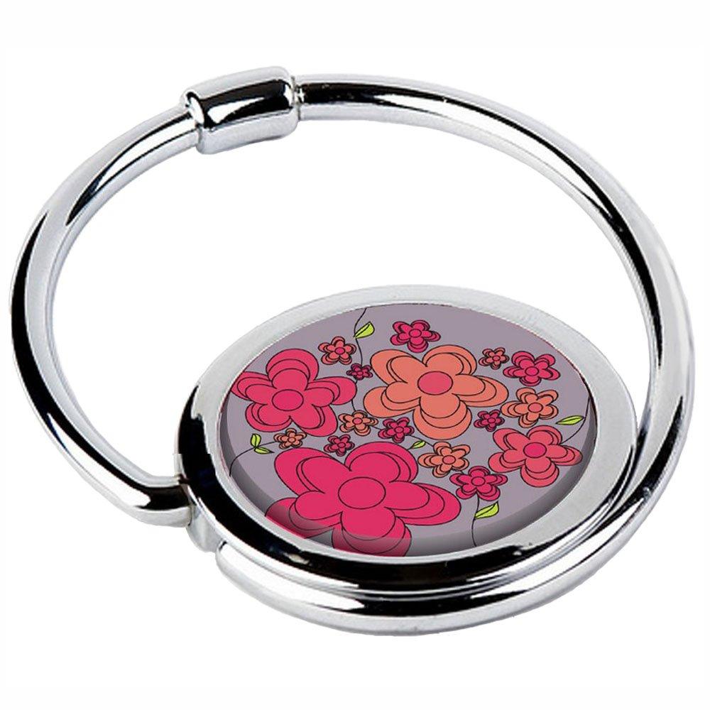 Miss Kha - Accroche Sac Pliable Fleurs Rouges CIRCLE-03