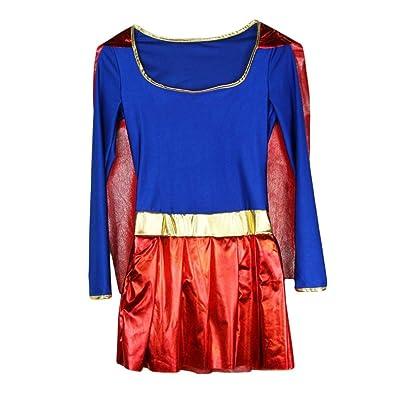 I-CURVES Disfraz de Disfraz de súper héroe de acción para Mujer, Talla XL 42-44: Juguetes y juegos