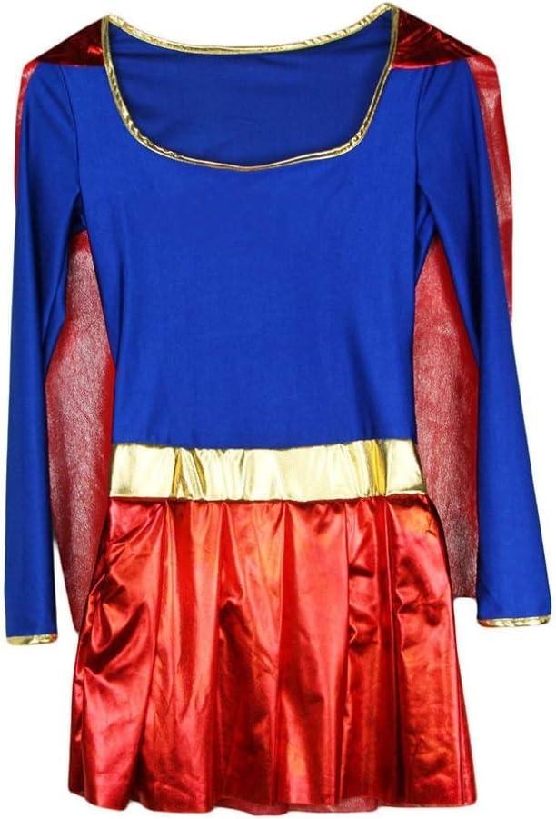 I-CURVES Disfraz de Disfraz de súper héroe de acción para Mujer ...