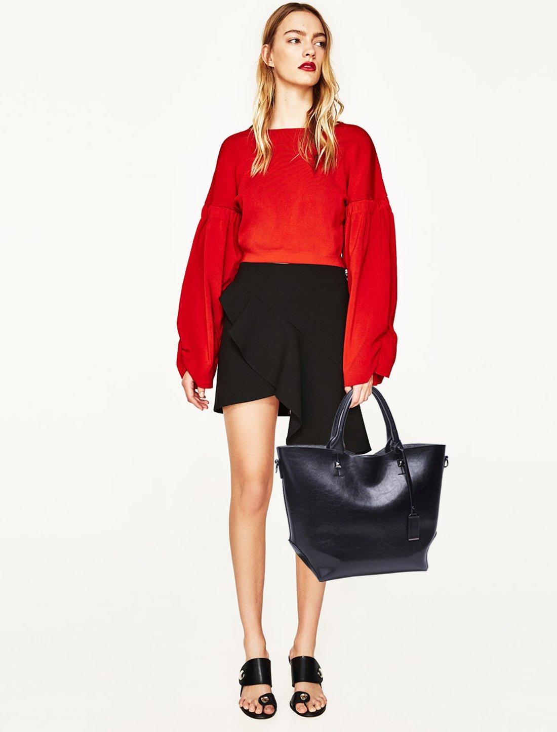NICOLE/&DORIS Fashion Women Bucket Bag Tote Handbag Shoulder Bag Messenger Large Waterproof PU Leather Black