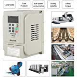 VFD 2.2KW 220V Variable Frequency Drive AT1-2200X PWM V//F AC Single to 3 Phase Adjustable Variable Speed Controller Drive Inverter,with Digital Display Screen Module Protection