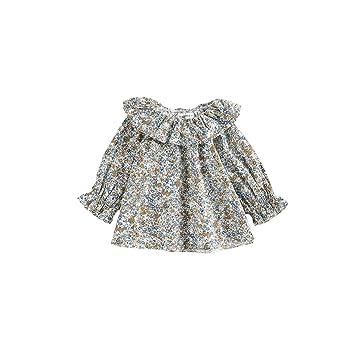 9bda30c83ebeb AIKSSOO ベビー服 ブラウス キッズ 女の子 シャツ 長袖 カジュアル 花柄 オシャレ size 80 (2)
