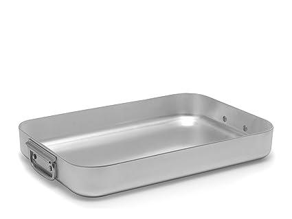 PARDINI Omnia - Bandeja Baja para Horno, Aluminio (55 cm), Color Gris