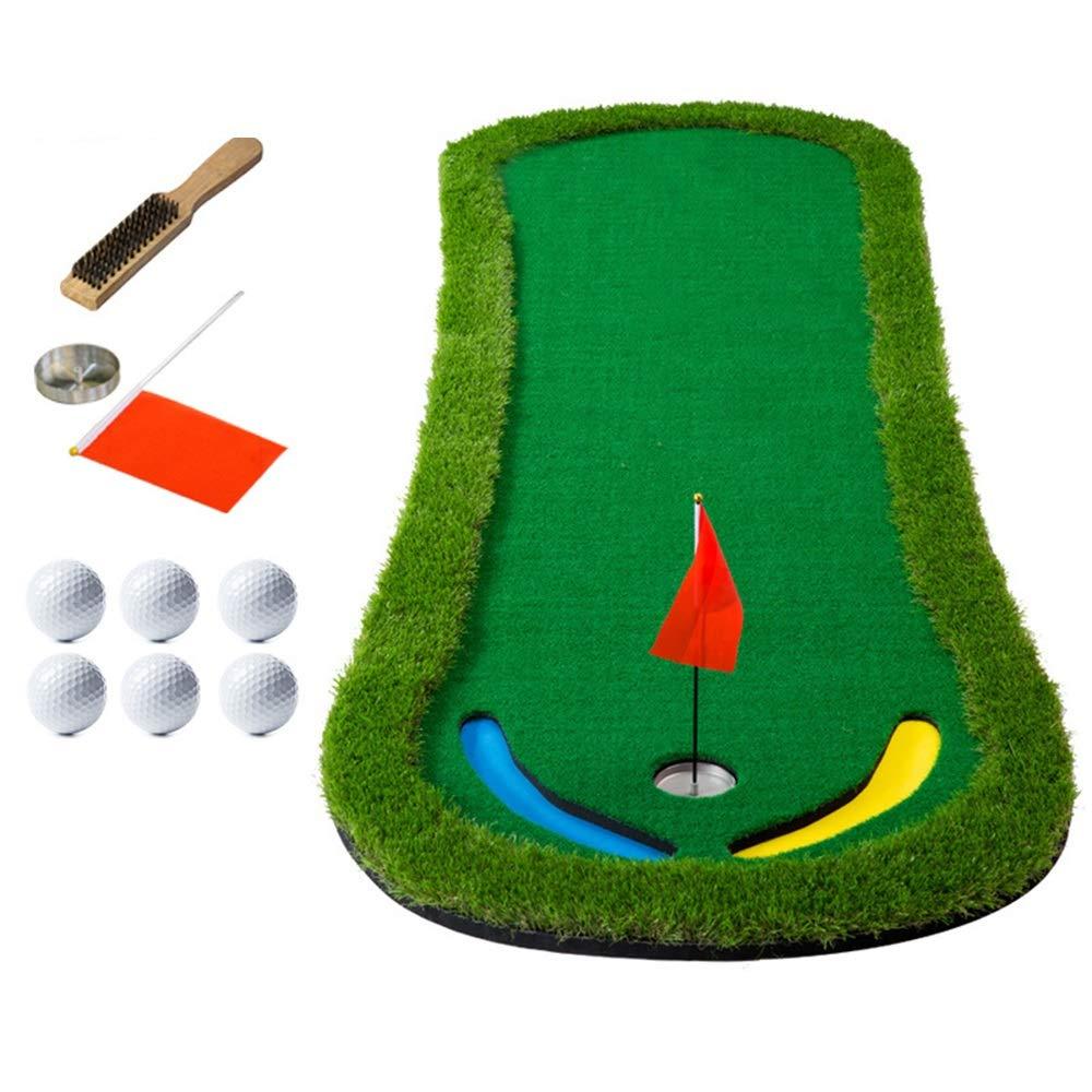 ゴルフマット ゴルフパターグリーンパッドポータブルゴルフコースミニトレーニングエイドロングフィジカルグラスプレースメントコーチセット 屋内パターパッド人工緑 (色 : 1.3m, サイズ : Accessories) 1.3m Accessories