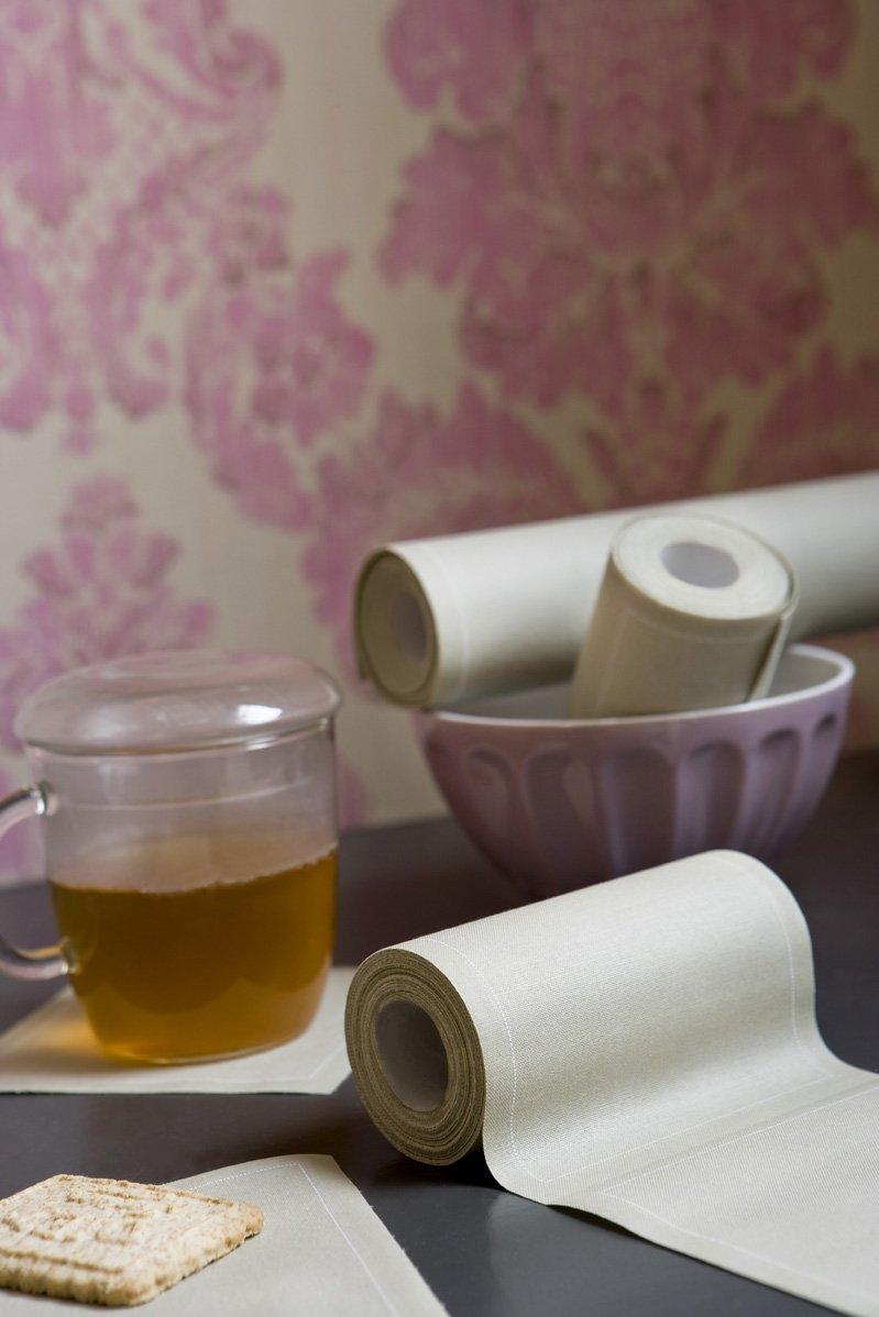 Motifs//imprim/és Rayures Id/éale pour f/ête ap/éritif My Drap Serviette de Table en Coton 11x11cm Cocktail Rouleau DE 50 Serviettes Dessous de Verre