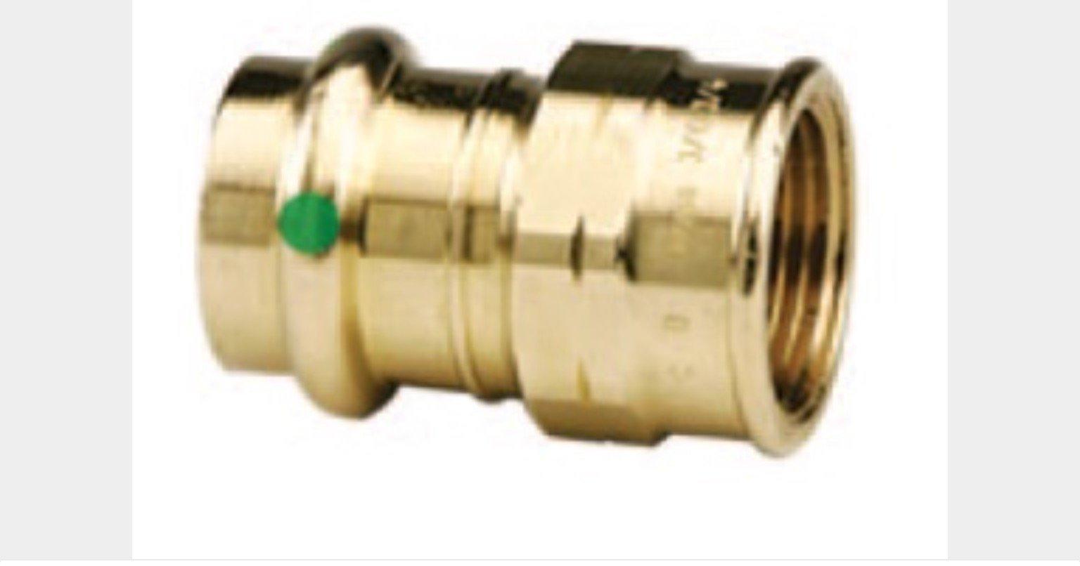 VIEGA 79300 Propress Zero Lead Bronze Adapter with Female 1/2'' x 1/2'' P x Female NPT (5-Pack)