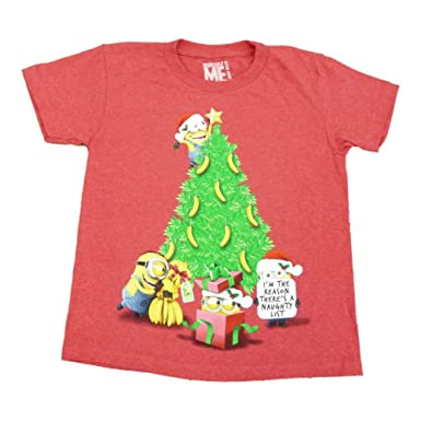 Amazon.com: Despicable Me Minion Boys Faded Red Naughty List ...
