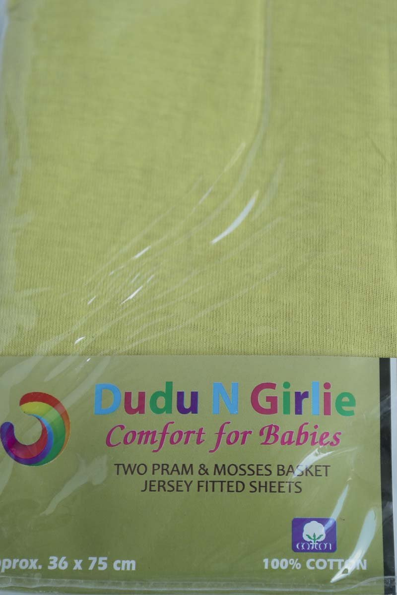 Cream Dudu N Girlie Moses Basket Cotton Jersey Fitted Sheet