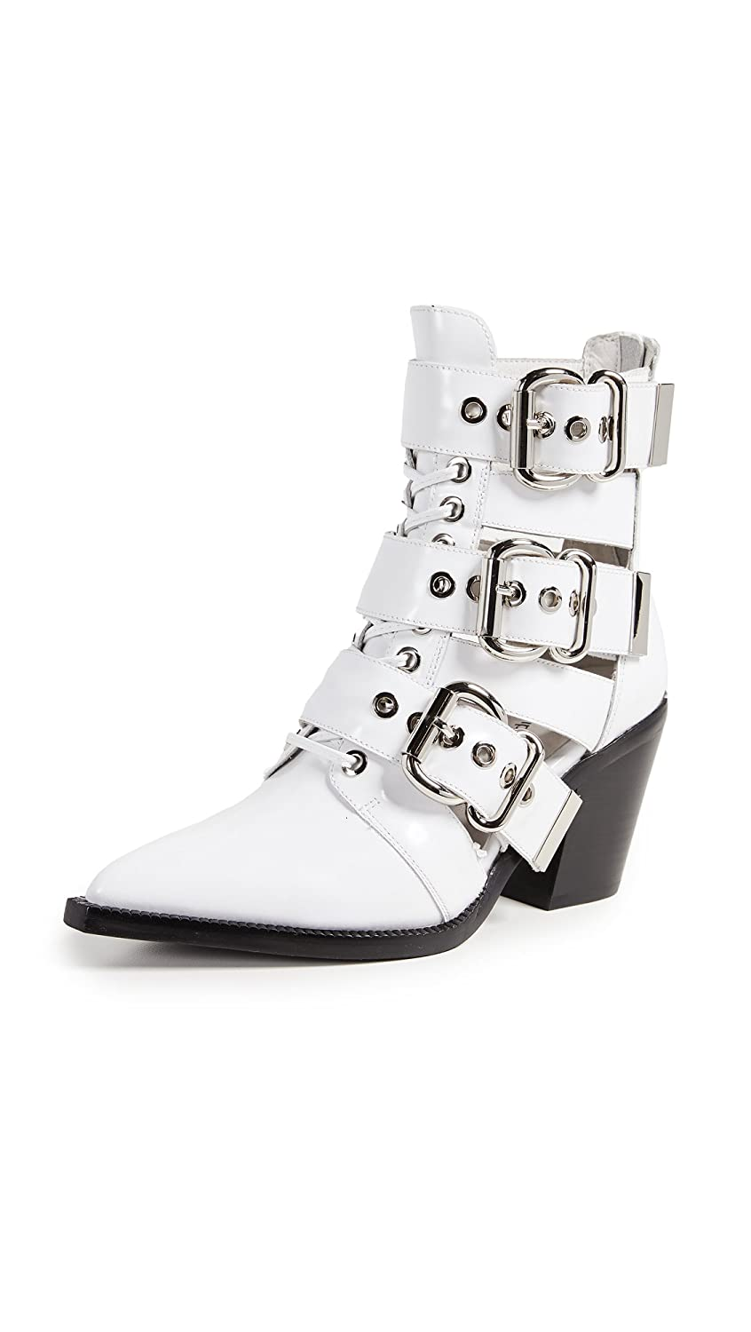 Jeffrey Campbell Women's Caceres Buckle Booties B07FCNCPBV 7.5 B(M) US|White Box