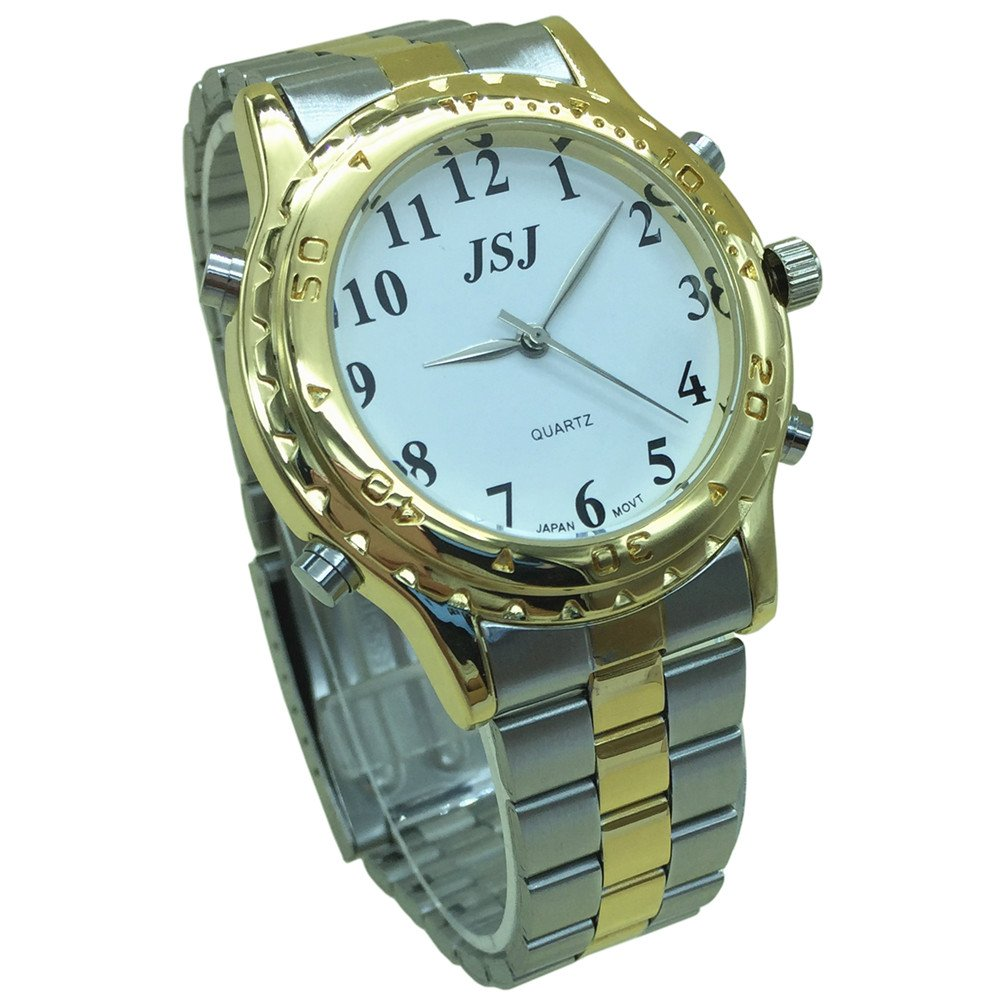 English Talking Watch with Alarm Stainless Steel Band
